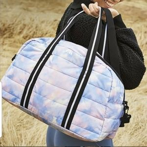 VS PINK quilted duffle bag